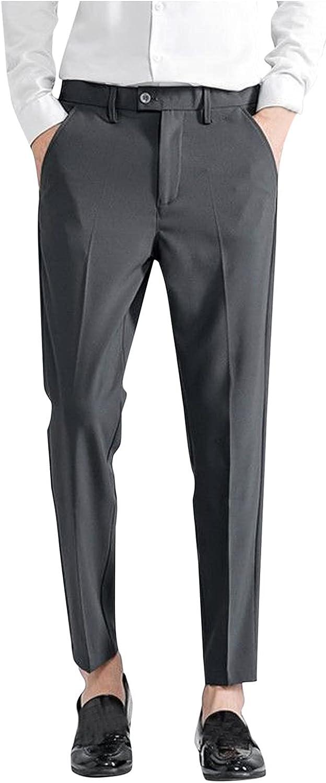 DIYAGO Cropped Dress cheap Pants Men Slim Plus Stylish Size Large-scale sale Fit Casual