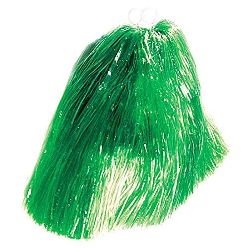 Amakando Pompon Fille Boules de Poils Cheerleader Pompons de Danse Vert collège Girls déguisement Carnaval