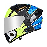 Casco de Moto Modular Bluetooth Integrado con Doble Anti Niebla Visera Cascos de Motocicleta ECE Homologado a Prueba de Viento para Adultos Hombres Mujeres DF,M