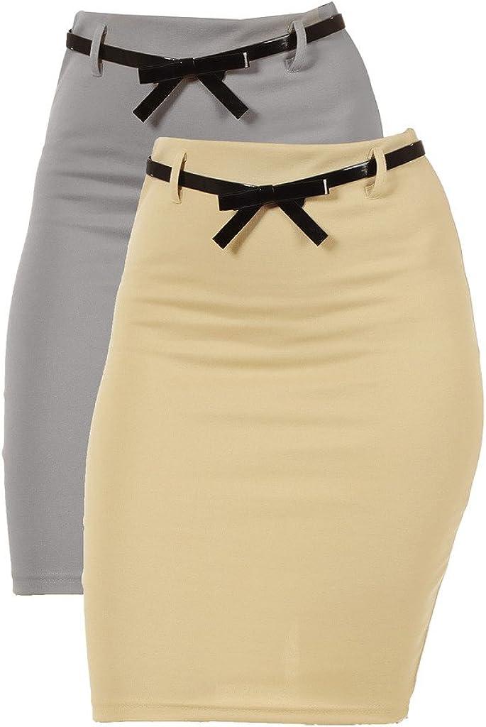 Dinamit Jeans 2 Pack Junior High Waist Pencil Skirt
