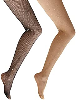 1fd46ee3fb91f Ypser Fishnet Tights Mesh Stockings Sparkle Rhinestone Glittering Net  Pantyhose