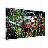 Premium Textil-Leinwand 90 x 60 cm Quer-Format Blick in den Garten, Leinwanddruck von niceimage