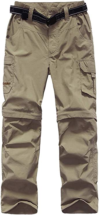 Kids Youth Girls Outdoor Quick Dry Hiking Convertible Trousers Asfixiado Boys Cargo Pants