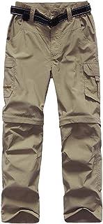 ADANIKI Boy's Casual Outdoor Quick Dry Pants Kids' Cargo Pant UPF 50+ Waterproof Hiking Climbing Convertible Youth Trousers