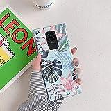 Uposao Compatibile con Samsung Galaxy Note 9 Custodia per Telefono Rose Soft Shell in TPU Laser Galvanico Caso con Fiori e Foglie Gomma Gel Backcover, Cassa Placcatura,Rosa Verde