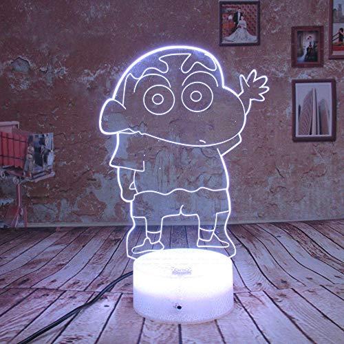 Luce notturna Cartone animato Crayon Shin Chan Luce Notte Led Figura Bambini Bambini Regalo Manga Giapponese Anime Tavolo Lampada Camera regalo