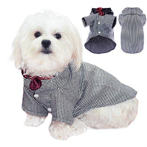 Coton élégant Pet Smoking pour chien Pet chiot vêtements Smoking pour homme pour nœud papillon élégant mariage Apparel
