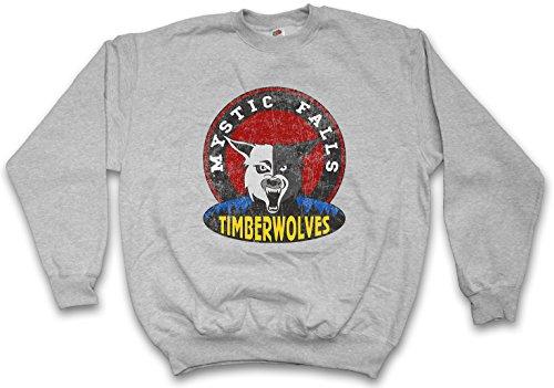Urban Backwoods Mystic Falls Timberwolves Sweatshirt Pullover Grau Größe L
