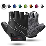 Tanluhu Cycling Gloves Mountain Bike Gloves Half Finger Road Racing Riding Gloves Breathable...