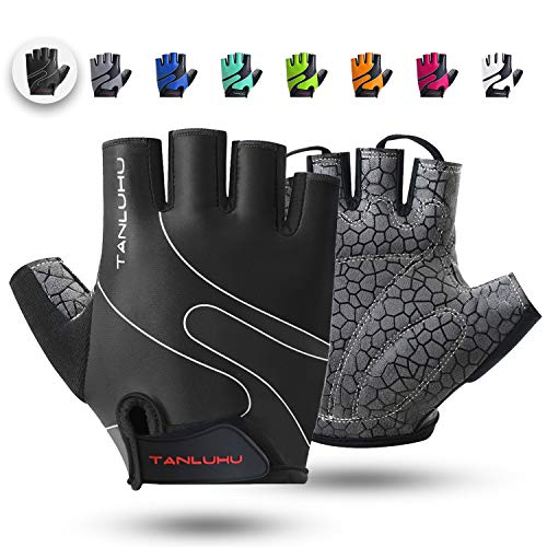 Tanluhu Cycling Gloves/Bike Gloves Half Finger Road Riding...