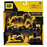 Mondo Motors-Caterpillar CAT Little Machines - Lote de 5 vehículos de construcción, color amarillo/negro, 25511, varios , color/modelo surtido