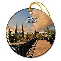カナダオタワ議会クリスマスオーナメントセラミックシート旅行お土産ギフト