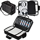 Traveling Storage Bag for PS5, Carrying Case for Sony Playstation 5 Console, Shockproof Scratchproof Hard Handbag, Store PS5 Controller, Pulse 3D Headset, and More Gaming Accessories (Upgrade)…