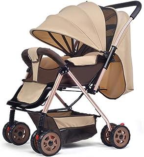 Bärbar kompakt buggy, hopfällbar lätt barnvagnar barnvagnar med vändbart styre - a