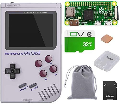 owootecc Retroflag GPi CASE für Raspberry Pi Zero und Zero W mit Safe Shutdown (Case with 32G Zero W)