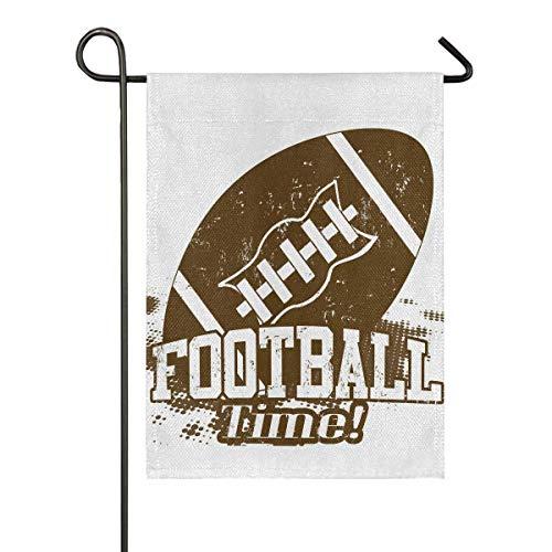 CRXOOX American Football Time Sackleinen Garten Flagge Home Banner, doppelseitig Willkommen Bauernhaus Outdoor Yard dekorative Flagge 12,5 'x 18'