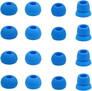 JNSA for Powerbeats3 Powerbeats2 Earphones Eartips with 4 Size Options 8 Pairs, Replacement Earbuds Ear Buds Ear Tip Eargels Silicone Tips for Powerbeats 2 Powerbeats 3,Blue pb8