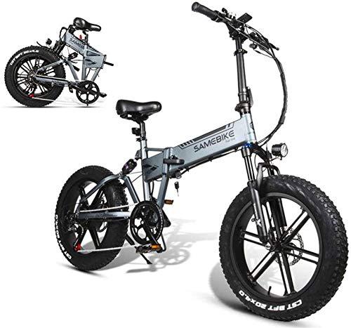 Bicicleta de montaña eléctrica, Bicicleta eléctrica plegable de 20 pulgadas Montaña bicicleta eléctrica 500W del motor 48V 10AH de la batería de litio, la velocidad máxima: 35 km / H, Pura Vida de la