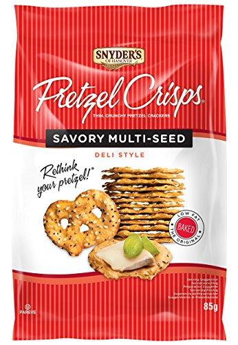 Snyder's Of Hanover, Deli Style Pretzel Crisps - All Natural, Baked, Multi Seed Flavour - 85g Pack of 8, Crunchy Pretzel Cracker