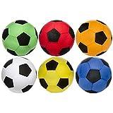 Ballon de football géant en tissu MEGABALL , diamètre 50 cm en tissu coloré. Aiguille de gonflage adaptable à toute pompe incluse