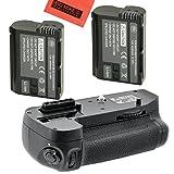Battery Grip Kit for Nikon D7100, D7200 Digital SLR Camera Includes Qty 2 Replacement EN-EL15 Batteries + Vertical Battery Grip + More!!
