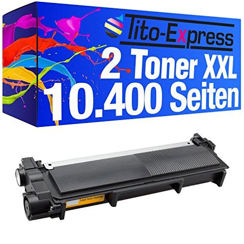 Tito-Express PlatinumSerie 2 Toner Super-XL kompatibel mit Brother TN-2320 | Geeignet für DCP-L2500D L2520DW L2540DN L2560CDN L2560CDW L2560DN L2560DW L2700DW | je 3.000 Seiten