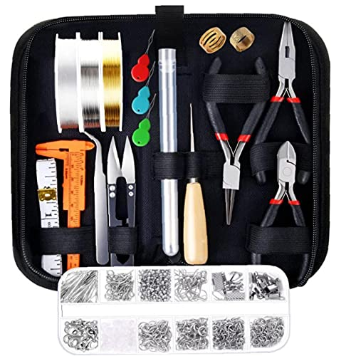 LjzlSxMF Herramientas de joyería Que Hace el Kit Especial de la Cremallera del Bolso DIY para la Pulsera del Collar de Rebordear Reparación