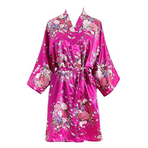 ADELINA Vrouwen Bloemen Gedrukt Kimono Korte Ochtend Nachtjassen Heren Nacht Warm Modieuze Completi Shea Bad