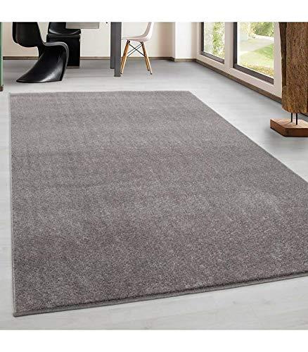 Kurzflor Gabbeh Optik Wohnzimmerteppich Flachflor Teppich Einfarbig 7 Farben, Farbe:Beige, Grösse:160x230 cm
