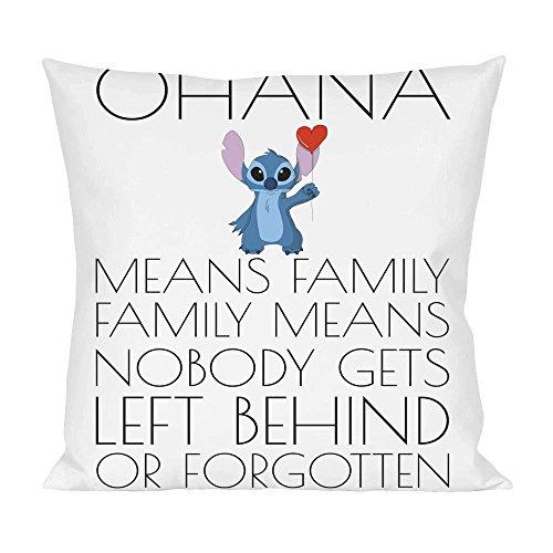 Ohana Means Family Family Means Slogan Pillow