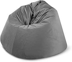 كرسي استرخاء قطيفة BAGZO حقيبة حمل مريحة مقاس XL رمادي غامق