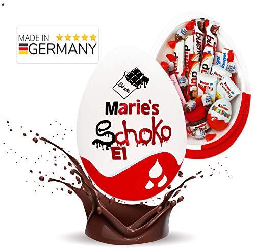 Schokofreunde Geschenke | Kinder Schokolade Süßigkeitenbox mit Namen | Geburtstagsgeschenk, Schokoladen Geschenke für Frau, Mann, Kind | Lieblingsmensch XXL Geschenk Box