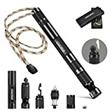 AbeuRox Multifunctional Tactical Survival Gear with Lighter, Fishing Tool, Bottle Opener, Glass Breaker, Whistle, Ideal Multitool for Car, Travel, Camping, Outdoor, Gift for Friends and Family