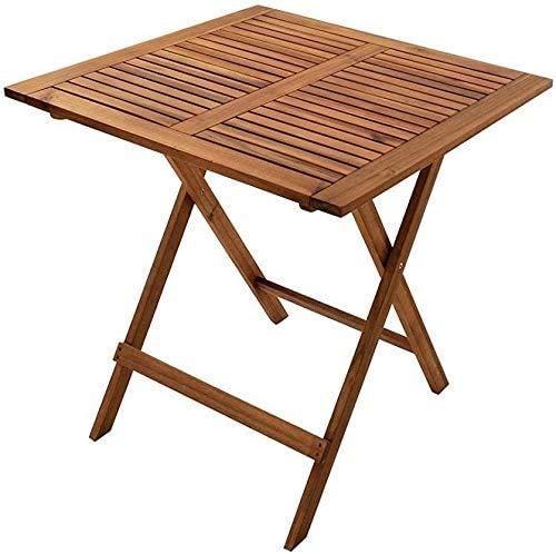 SAM Balkontisch Camelia, 62x62 cm, Gartentisch aus Akazienholz, klappbar