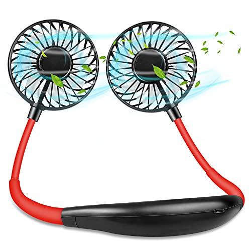 Diacare - Ventilador portátil, recargable, mini USB, 3 velocidades, plegable, con luz LED, para senderismo, deportes al aire libre, viajes, hogar, oficina