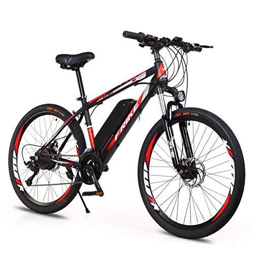 HSART Bicicleta Eléctrica de Montaña Ruedas 26'' Ebike Aleación Aluminio Batería Litio Extraíble 36V 10AH Bicicleta Eléctrico de 27 Velocidades para Adultos(Negro)