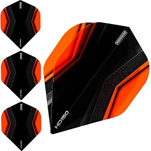 Pentathlon HD150 Dart Flights – Ultra dick – Standard – XWing – 10 Sets (30 Stück), Orange