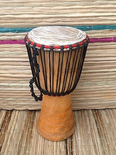 Echt afrikanischen Djembe Trommel mit gratis Drum Kopfschale, 22,9cm Head (23cm, 52cm Höhe)