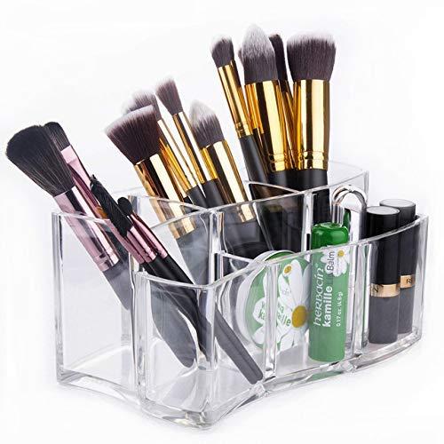 ZHAS Boîte de Rangement cosmétique Acrylique Transparent Maquillage Brush Holder Desktop Decor Boîte de Rangement cosmétique Organisateur