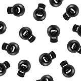 Single Hole Spring Loaded Round Ball Shaped Stop Sliding Cord Fastener Locks Buttons for C...