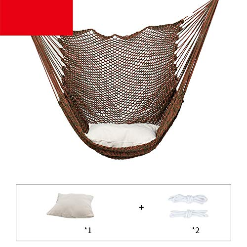 Zhangmeiren Household Outdoor Hammock Hanging Chair Swing Chair Cradle Lazy Student Dormitory Bedroom Single Child (Color : Brown)