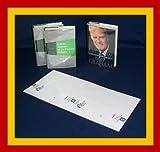 10 - 9 1/2' x 20' Brodart Fold-On Book Covers -- Center-Loading, Adjustable, Clear Mylar