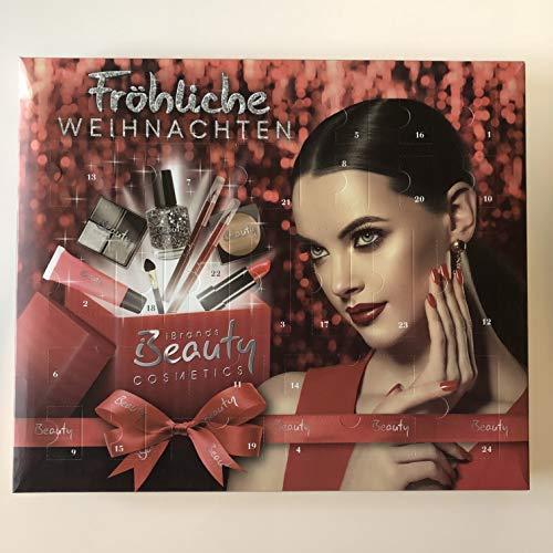 Belleza Calendario de Adviento Brands Cosmetics con Gran Contenido - Sombra de Ojos, Bálsamo Labial, Colorete, Máscara y Muchos más Tamaño ca36x42cm
