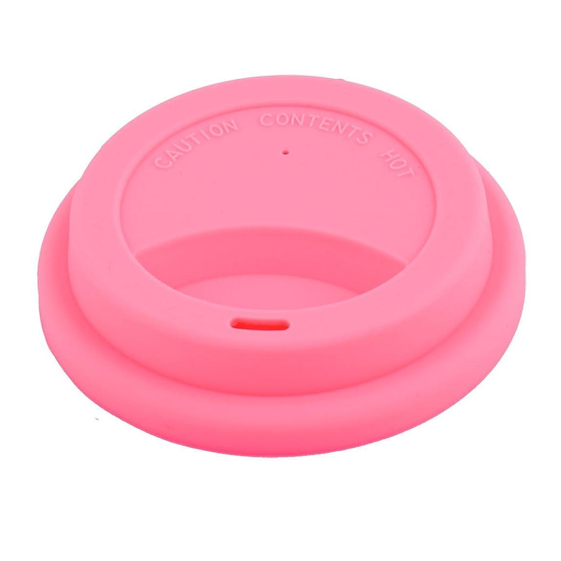 休眠宇宙のタクトuxcell リッド カバー 家庭用 カフェ シリコン 再利用可能 ドリンク 水 ティー コーヒー マグ カップ ピンク