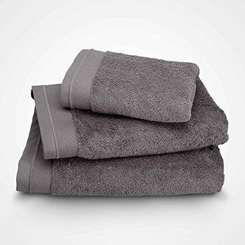 BLANC CERISE Serviette de Toilette - Coton peigné 600 g/m² - Gris Taupe 070x140 cm