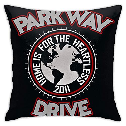 LUCKY Home Parkway Drive - Funda de almohada ultra suave sin almohada (45,7 cm)
