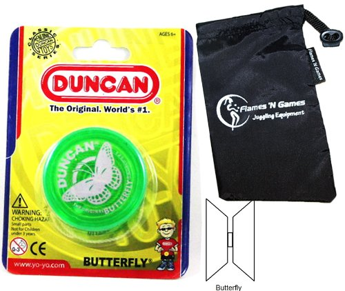 Duncan BUTTERFLY YoYo (Green) Beginners Entry-Level Yo Yo with Travel Bag! Great YoYos For Kids and...