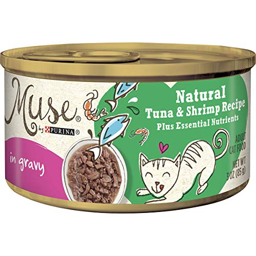 Muse by Purina Natural Gravy Wet Cat Food, Tuna & Shrimp Recipe - (24) 3 oz. Cans