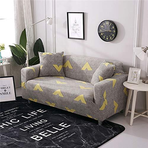 Funda de sofá elástica Moderna para Sala de Estar Fundas de sofá Envoltura Ajustada Funda de sofá Todo Incluido Protector de Muebles A13 1 Plaza
