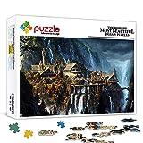 Scies sauteuses 1000 pièces pour adultes Le Seigneur des Anneaux 1000 pièces de qualité Jigsaw Puzzle Jeu éducatif pour enfants adultes Soulagement du stress Enfants Jeux de puzzle 14 ans 75x50cm